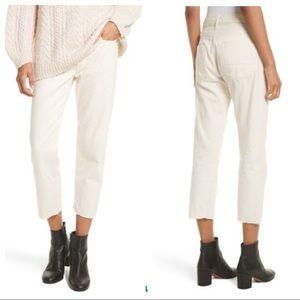 Vince Boyfriend Crop Pants Sz 28 Natural white